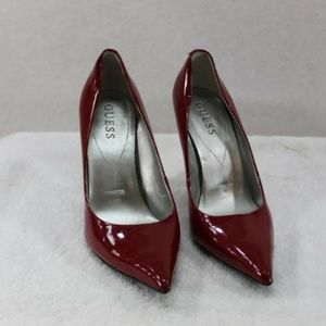 Guess Red Patent Leather 👠 Heels 7.5M